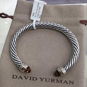 David Yurman 7mm Citrine 14k & Sterling Bracelet